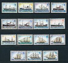 FALKLAND ISLANDS1978 QEII definitives SAILING SHIPS etc (Scott 260-74) VF USED