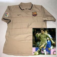 LIONEL MESSI hand signed autographed RARE 2003 Debut Barcelona Jersey