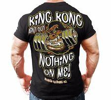 Monsta Clothing Mens Graphic Tee Shirt Bodybuilding Wear King Kong T-Shirt New