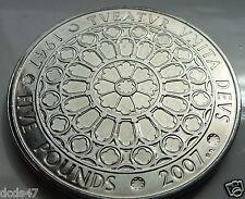 Raro 2007 reinas Diamante Boda £ 5 moneda 2007 moneda de cinco libras.