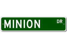 MINION Street Sign - Personalized Last Name Signs