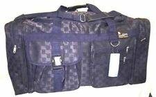 "New 28"" 50LB. CAP NAVY BLUE CHECKERED DUFFLE BAG/ GYM BAG / LUGGAGE / SUITCASE"