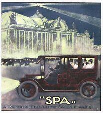 PUBBLICITA' 1912 AUTO SPA FLAG TORINO TRIONFATRICE SALONE PARIGI CEIRANO ANSALDI