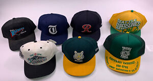VTG Lot 7 Tacoma Rainiers Tigers hat cap Seattle Sonics 90s Minor League Rockets