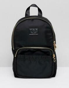 FRED PERRY NYLON MINI BACKPACK BLACK WITH GOLD ZIP L4220 102 NEW WITH TAGS