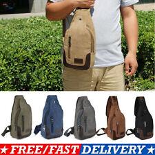 Mens Tactical Sling Chest Bag Assault Pack Messenger Shoulder Bag Backpack US
