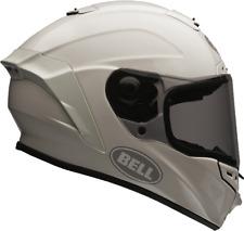 Bell Star Blanco Brillante Casco de MOTO - Medio AHORRO
