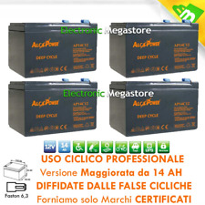 BATTERIA AL PIOMBO 48V 14AH RICARICABILE CICLICA CARRELLI GOLF CART FASTON