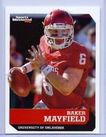 "BAKER MAYFIELD SPORTS ILLUSTRATED 2017 ""1ST EVER PRINTED"" ROOKIE CARD! HEISMAN!"