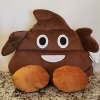 "Large Emoji Northpoint Character Poop Pillow Plush Yellow 18"" ."