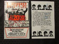 1984 BEATLEFEST Beatles Program NM New York Metro VG- Lou O.Neill Jr.