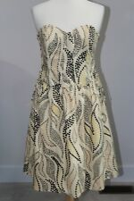 New ANTHROPOLOGIE Stippled Deciduous Corset Dress Sz 8 by Anna Sui Strapless