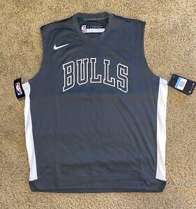 Nike NBA Chicago Bulls Team Issue Dri-Fit Sleeveless Shooting Shirt Medium