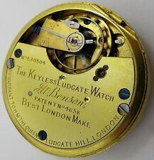 J. W. Benson at London Pocket Watch Movement diameter 44.2 mm HC * Ludgate *