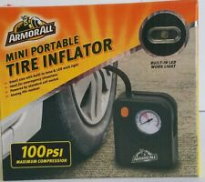ArmorAll Mini Tire Inflator New 100PSI Air Compressor Emergency LED Work Light