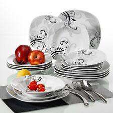 18 Piece Dinner Set Porcelain Crockery Serving Dining Plates Bowls Tableware New