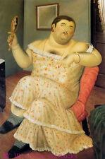 "Art Repro oil painting:""Fernando Botero Portrait at canvas"" 24x36 Inch #036"