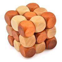 ds Gioco Puzzle Legno Cubo Rompicapo Antistress Giocattolo Educativo Bambini dfh