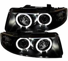 LED Angel Eyes Scheinwerfer schwarz Seat Leon 1M 99-05 Klarglas links rechts SET