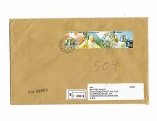 Vatican 2005 registered cover Pope John Paul II travels Lourdes Loreto Bern