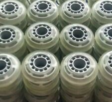 Lot of 40 Rollerblade Inline Fitness Hockey Skate Wheels 70mm 78A (Clear)