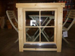Fenster Doppel-, Isolierglas 800x880mm für Ferien-, Gartenhaus in 70mm U-Profil