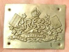 Vintage Metal 3D Decal RCCS Royal Canadian Corps of Signals Badge #B120