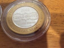 Gold Coast Casino ,(4) 2002 limited ecition $10 tokens in plastic casing.