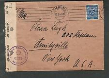 Germany c WWII PC90 crown censors cover Blankenese nr Hamburg to Amityville NY