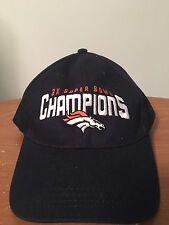 Denver Broncos 3x Super Bowl Champions Hat Blue Adjustable