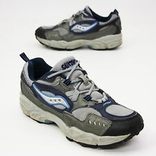 Saucony XT 600 Ladies Size 8.5 Gray Blue Athletic Trail Running Sneakers 1204-5