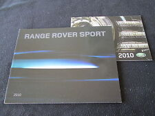 2010 Land Range Rover Sport HSE & Supercharged Deluxe Brochure & sm Catalog Set