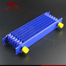 Universal AN10 7Row Engine Transmission Oil Cooler 7 Row AN-10AN Blue