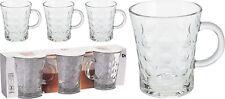 Set da 3 Vetro Tazze Da Caffè tè Cioccolato Moca Latte Macchiato Bicchieri 280ml