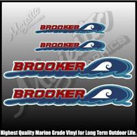 BROOKER  -  500mm X 90mm X 2 & 275mm X 48mm X 2 - DECALS - BOAT DECALS