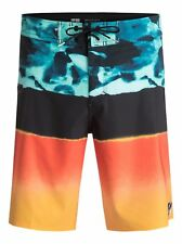 QUICKSILVER Mens Swim Boardshorts, Blocked Resin Camo 20, Size 36, Bright NWT
