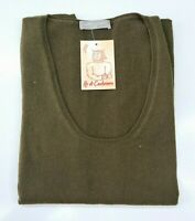 PULL TAILLE XL SWEATER DONNA 100% PUR CASHMERE CACHEMIRE PURE LORENA ANTONIAZZI