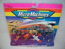 MOUNTAIN SEARCH & RESCUE Micro Machines Set NIB Sealed  Snowmobile, Snow Cat