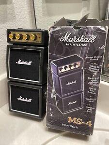 RARE! Marshall MS-4 1-watt Mini Battery Micro Stack Amp Amplifier Speaker Orange
