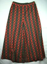 Vtg 1970s Bell Bottoms Men's Large  or Women's Extra Large Green Red Yellow E80