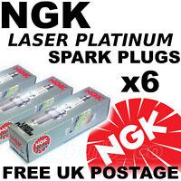 6x NEW NGK Laser Platinum SPARK PLUGS JAGUAR X-TYPE 2.5 lt V6 01-->08 No. 4968