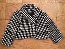 SINEQUANONE PARIS BLACK WHITE COUTURE JACKET BLAZER SIZE 38 or M