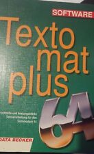 Textomat Plus 64 (Data Becker, 1987) Buch + Diskette (Commodore C 64 Buch)