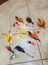 lot of 8 musky spinner fishing lures