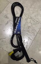 "Leash 12' x 5/16"" Calf Black Dakine Kainui Longboard Series"