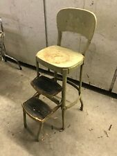 Vintage Cosco Green Step Stool Chair