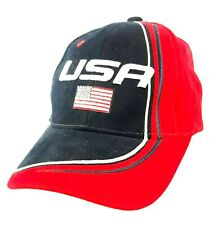 HAD Cap USA Baseball Cap Red White & Blue Flag Hat Adjustable Strap 100% Cotton