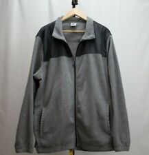 Mens Starter 2XL Regular  Full Zip Jacket Gray fleece material EUC