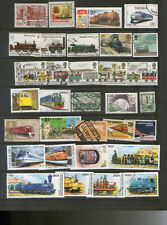 400 sellos de tema trenes/ferrocarriles  Railway/Eisenbahnen