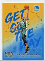 2018-19 Hoops Gold Foil Holofoil Get Out The Way Andre Iguodala # 19 Warriors